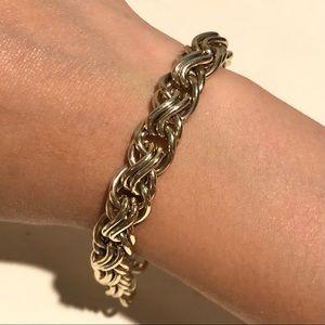 JCREW Gold Thick Cable Chain Bracelet